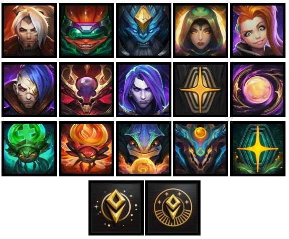 Nuevos iconos del evento Odisea de League of Legends