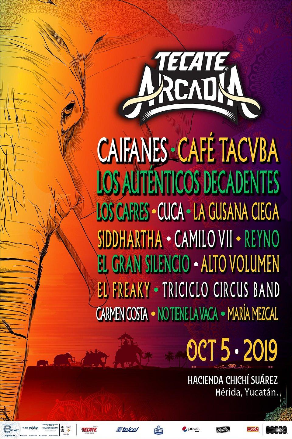 Tecate Arcadia México 2019