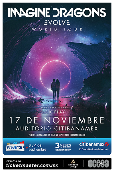 Póster Imagine Dragons Auditorio Citibanamex