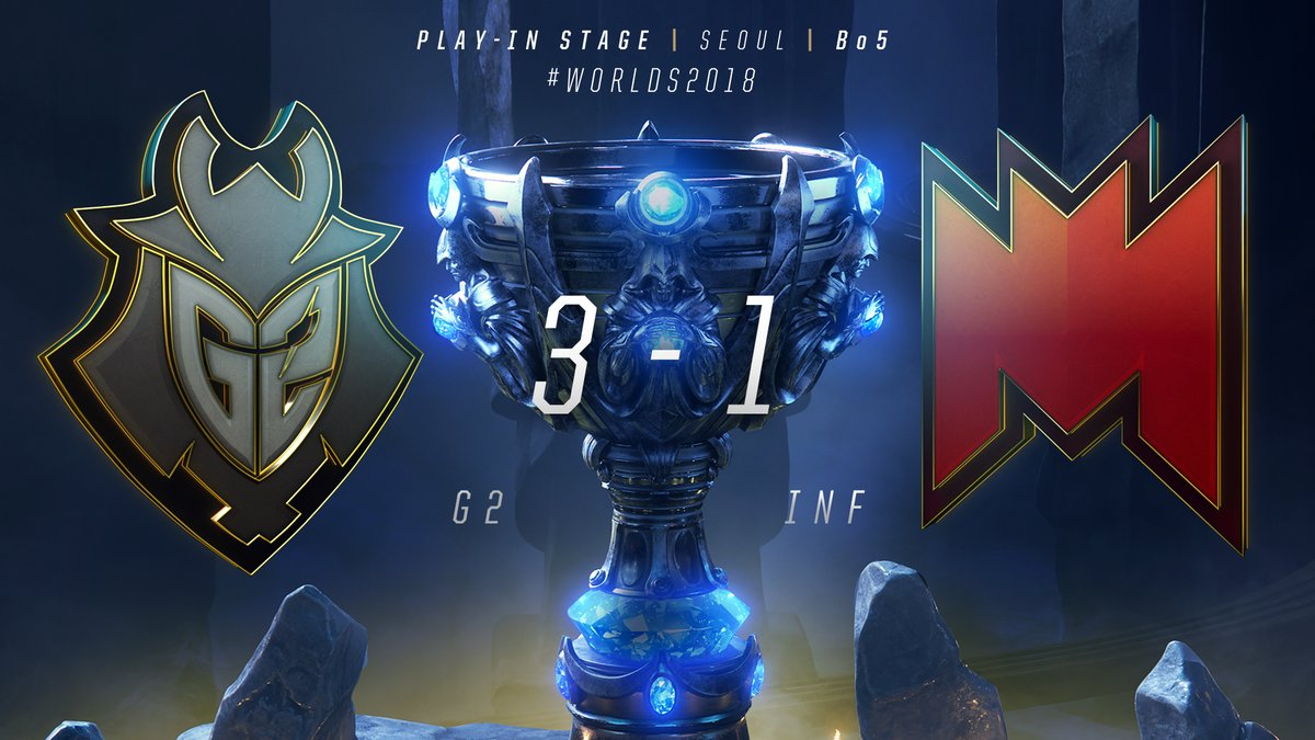 Derrota de Infinity Esports ante G2 Esports en la Worlds 2018 de League of Legends
