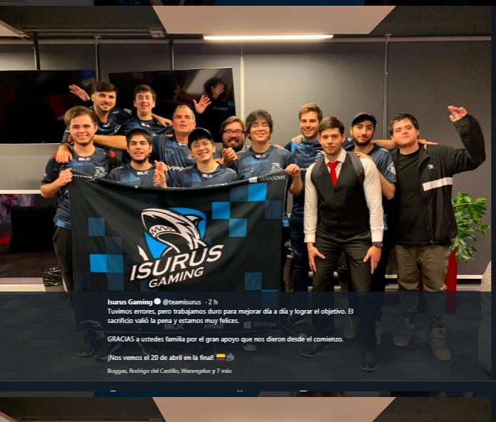 Isurus Gaming, gana su pase a la gran final de la Liga Movistar Latinoamérica