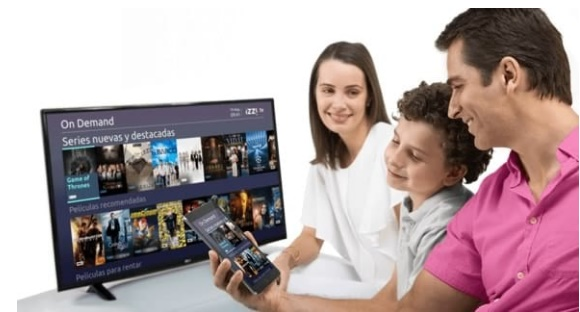 Imagen publicitaria de Izzi TV