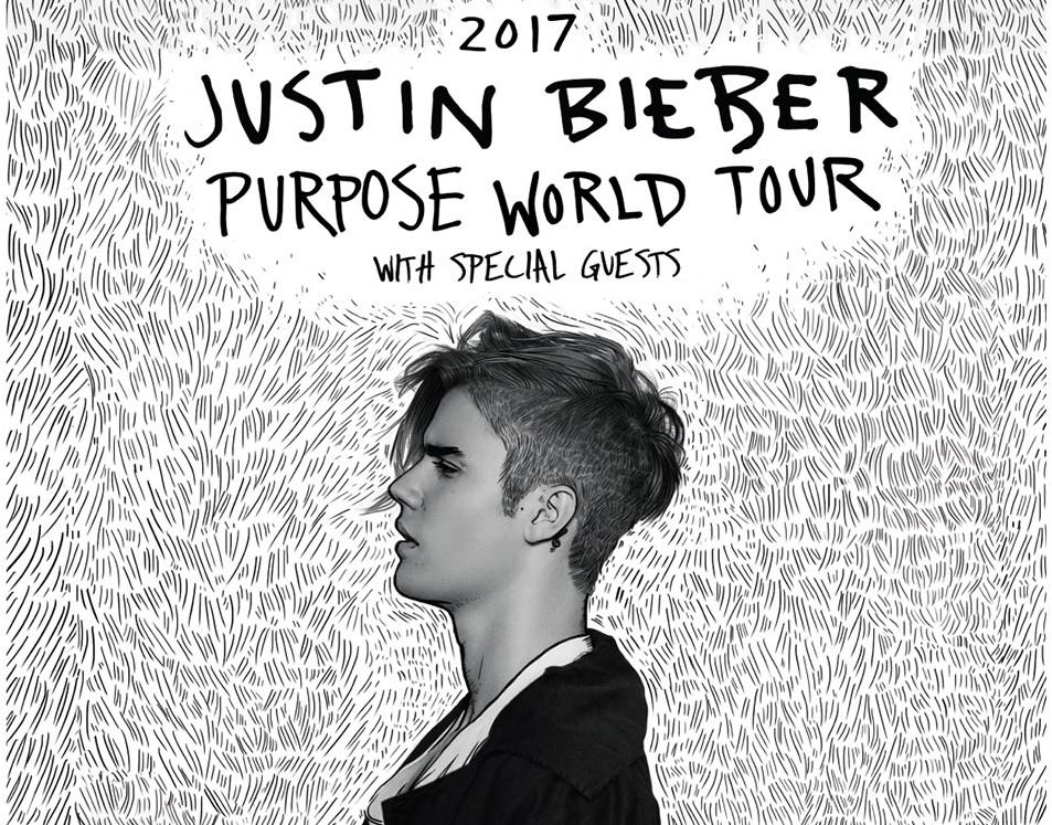 Póster oficial de la gira de Justin Bieber