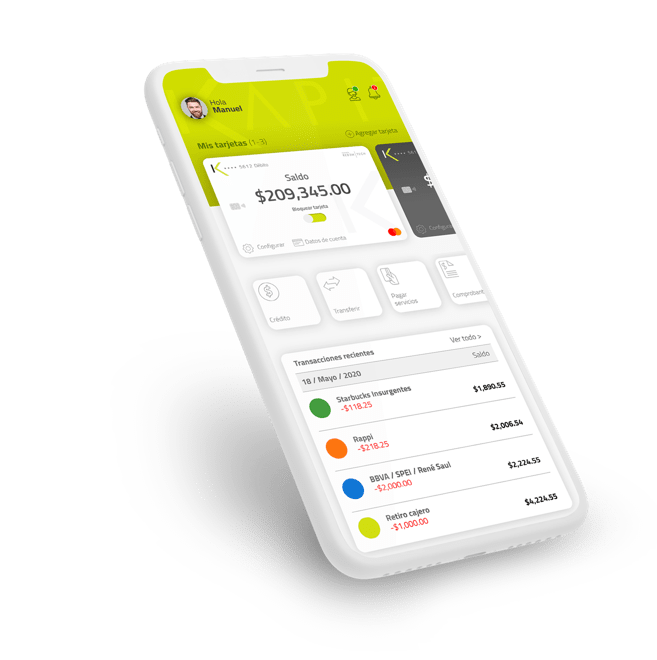 Kapital: tarjeta de crédito digital, SmartBank|PandaAncha.mx