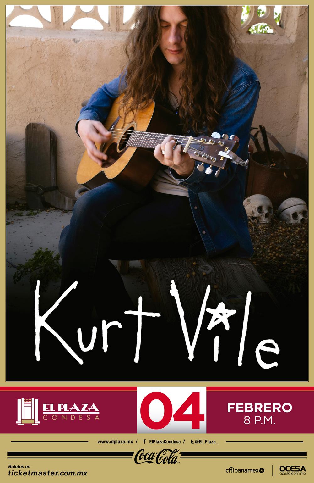 Póster oficial del concierto de Kurt Vile