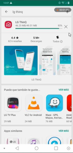 LG ThinQ App te permite el control remoto de tus dispositivos en el hogar y soporte de productos.