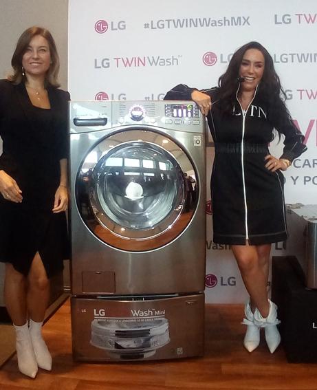 Dominika Paleta e Inés Gómez Mont, embajadoras de LG TWINWash