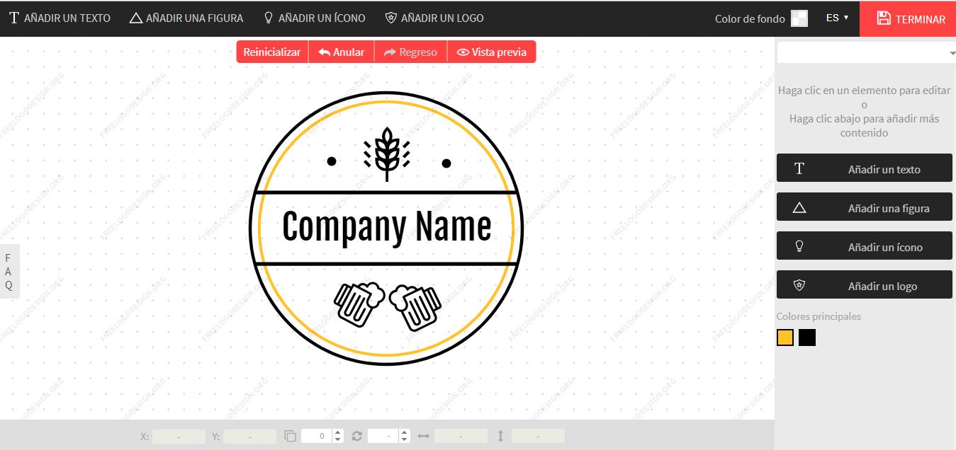 Creador de logos de Free Logo Design