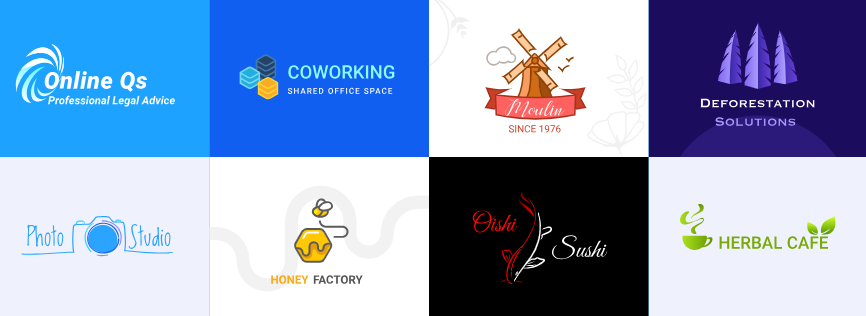 Logos hechos con LogotypeMaker