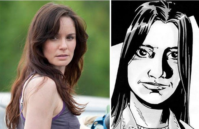 Lori Grimes en la serie y cómic