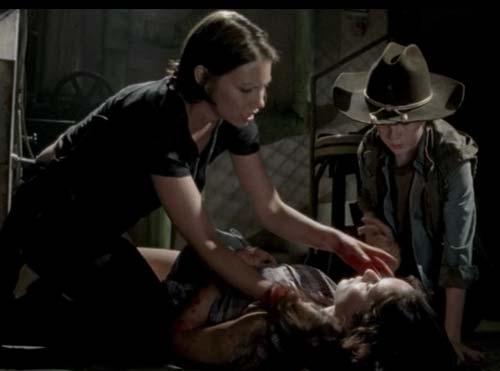 Lori Grimes en parto