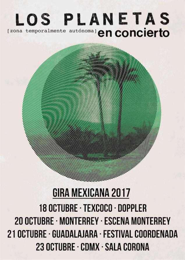 Póster oficial de la gira por México
