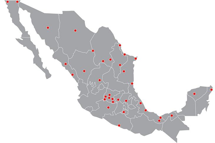 Mapa cobertura Axtel Acceso Universal