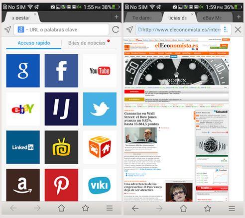 Maxthon móvil en Android