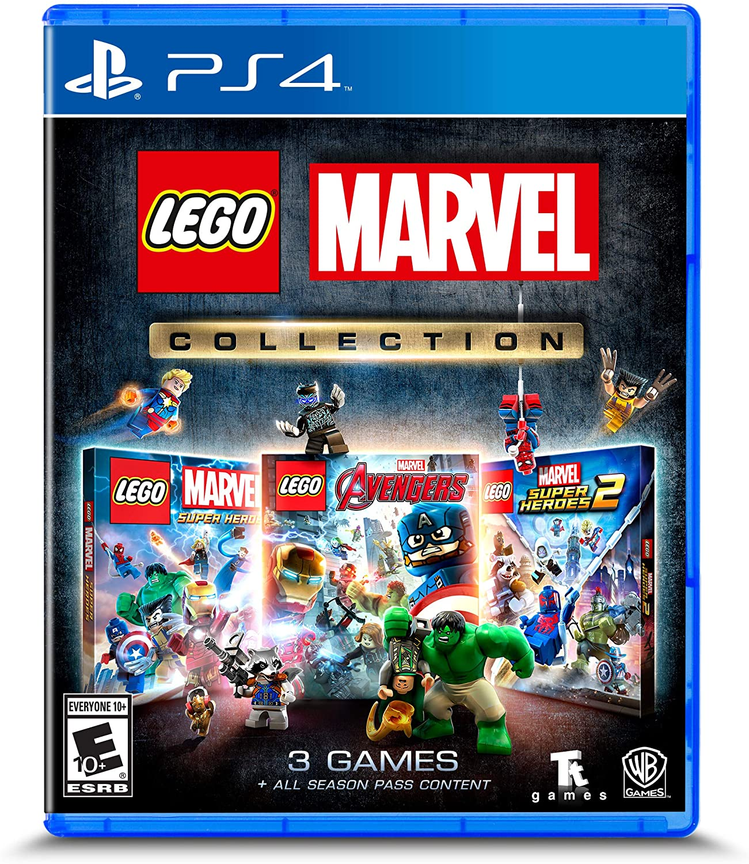 Colección de Lego Marvel para Playstation 4.