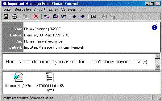 correo virus melissa