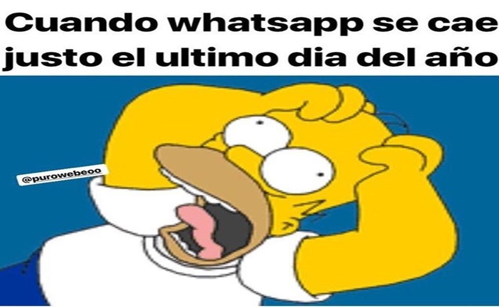 Meme caída WhatsApp