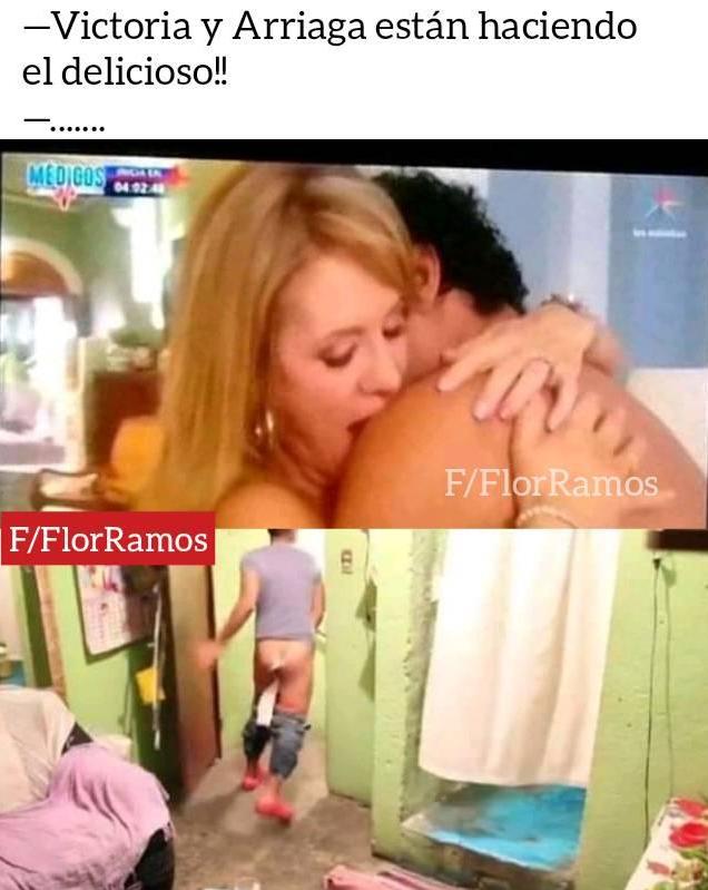 Memes sexys de Arriaga y Victoria