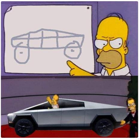 Memes del nuevo auto de Tesla