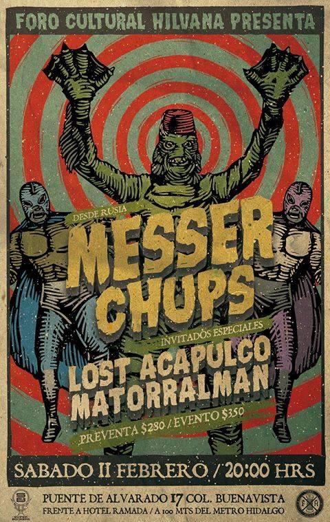 Póster oficial del concierto de los Messer Chups