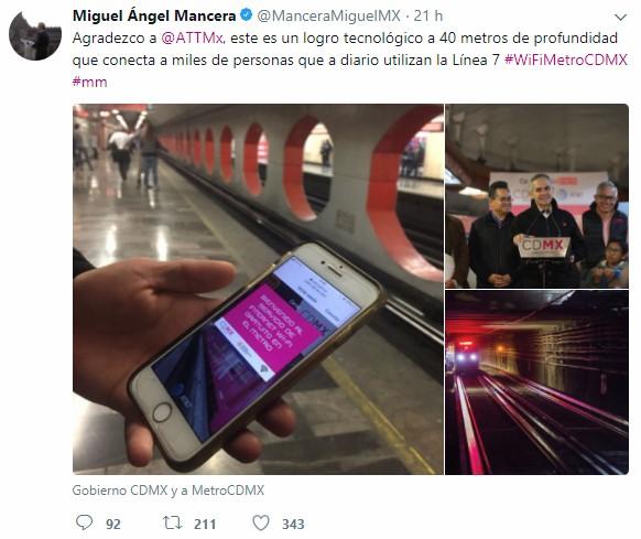 La red de WiFi en el Metro se inauguró el domingo