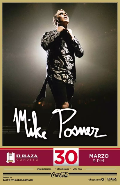 Póster oficial del concierto de Mike Posner