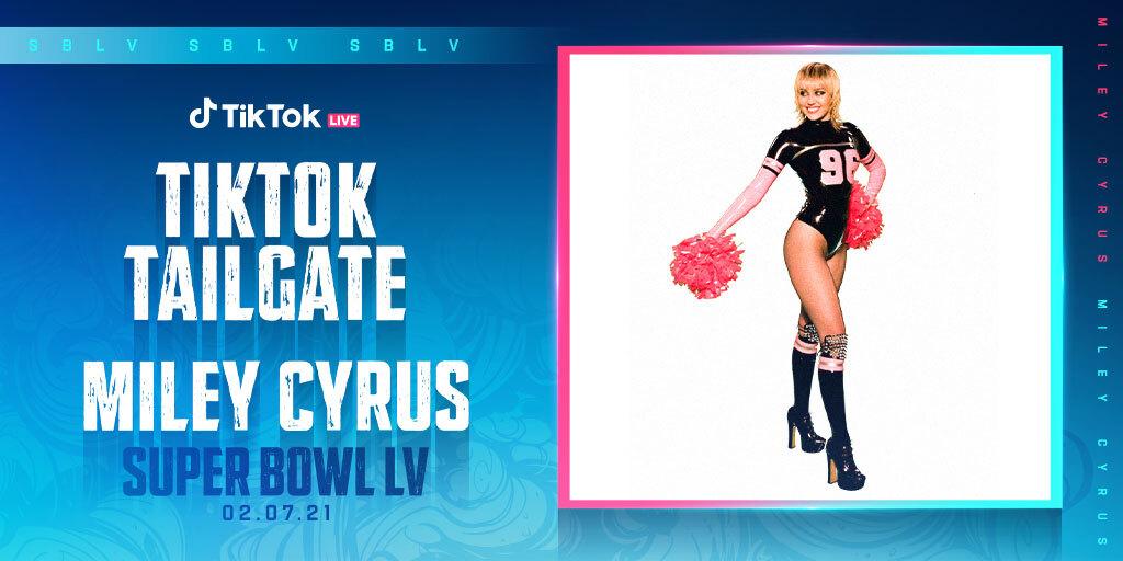 Miley Cyrus presentación Tik Tok Tailgate