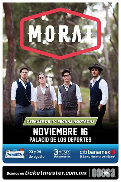 Poster Morat en el Palacio de los Deportes