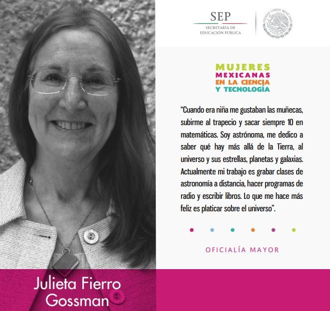 Julieta Fierro Gossman, astrónoma mexicana.