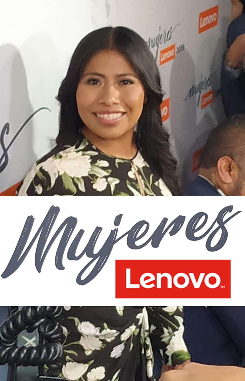 Yalitza Aparicio en Mujeres Lenovo
