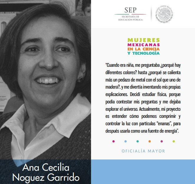 Ana Cecilia Garrido, estudió Física.