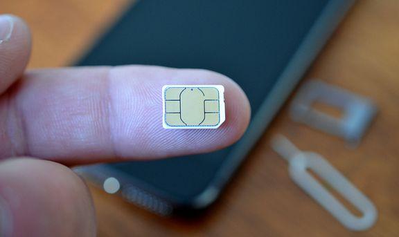 Una tarjeta nano SIM