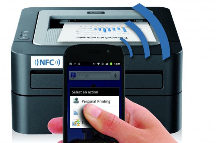 Imprime documentos por NFC