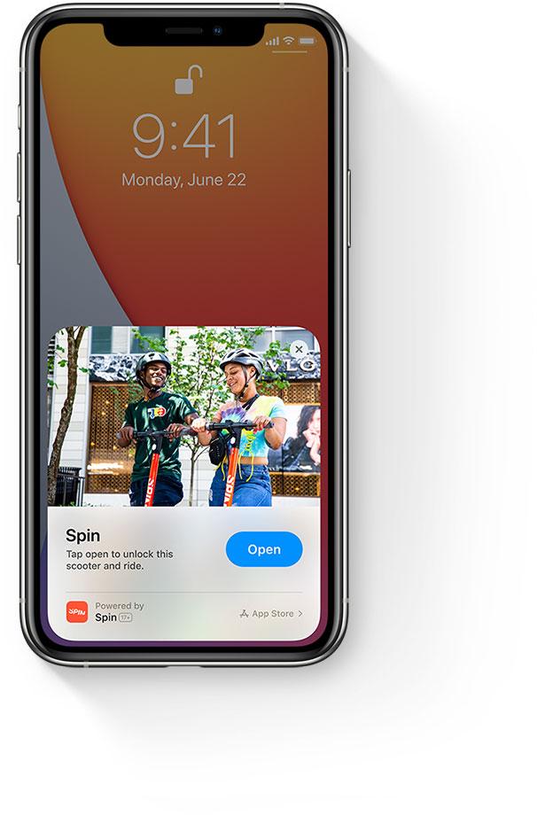 Con App Clips de Apple, ahora puedes acceder a las aplicaciones instantáneas con enlaces dentro de otras apps, usando códigos QR y etiquetas NFC.