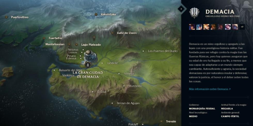 Mapa Interactivo de Runaterra - Demacia
