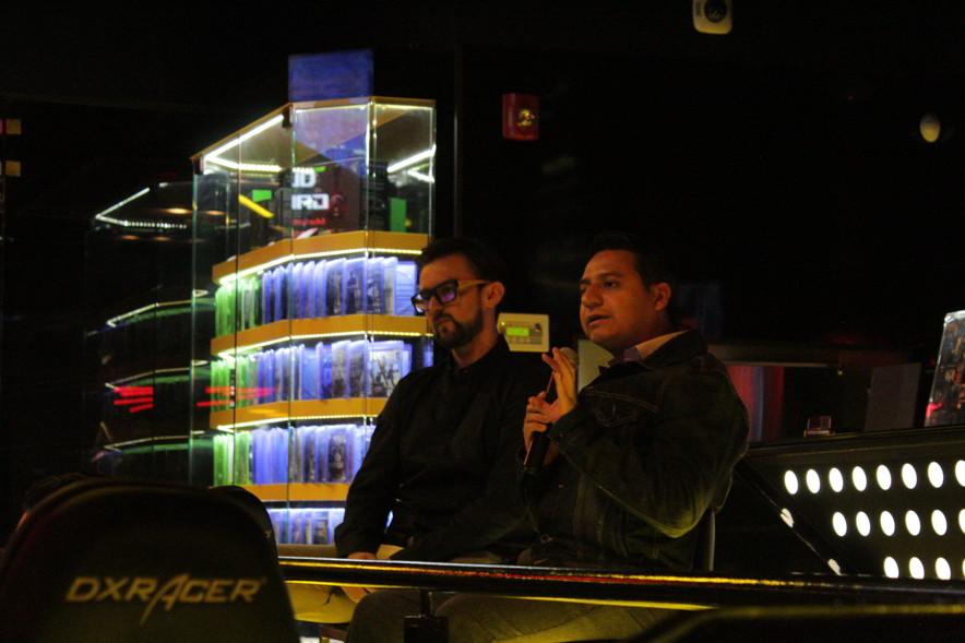 Oliver Galeana e Irving González en la presentación del ROG eSports Fest 2018