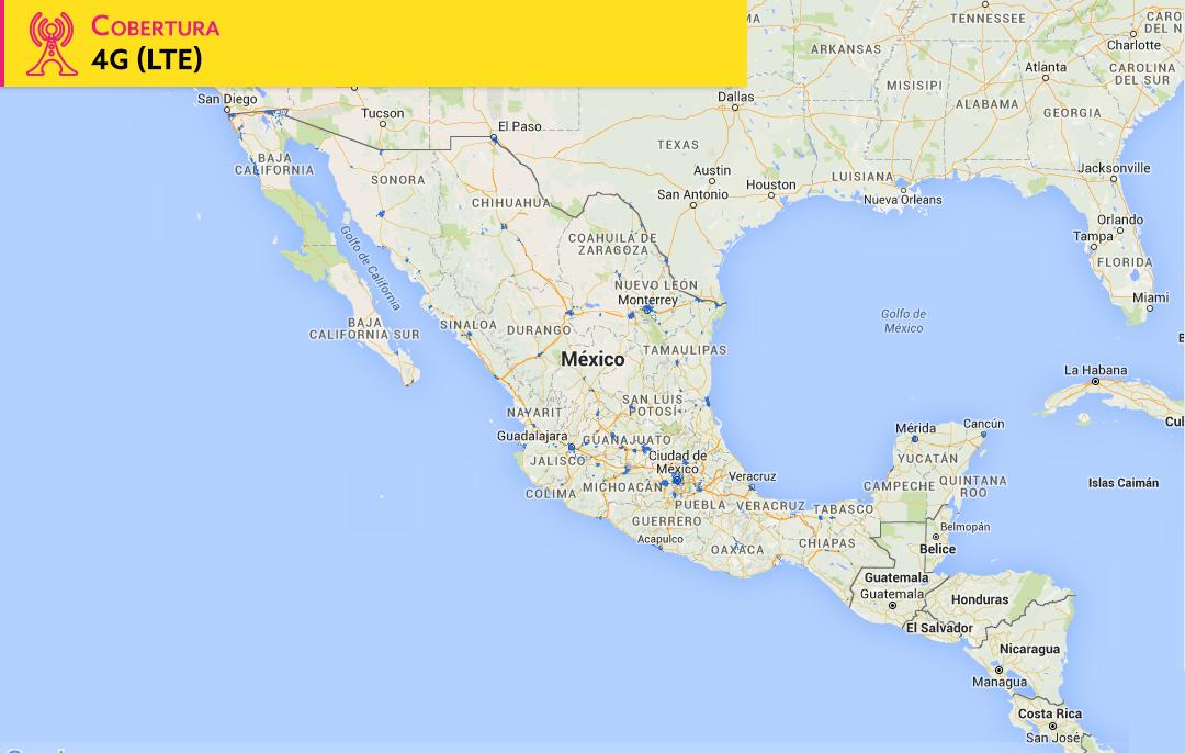 Mapa cobertura 4G