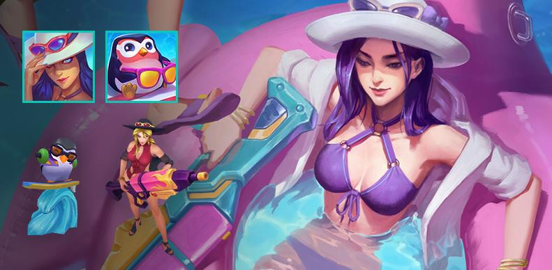 Paquete Caitlyn Veraniega League of Legends 2018