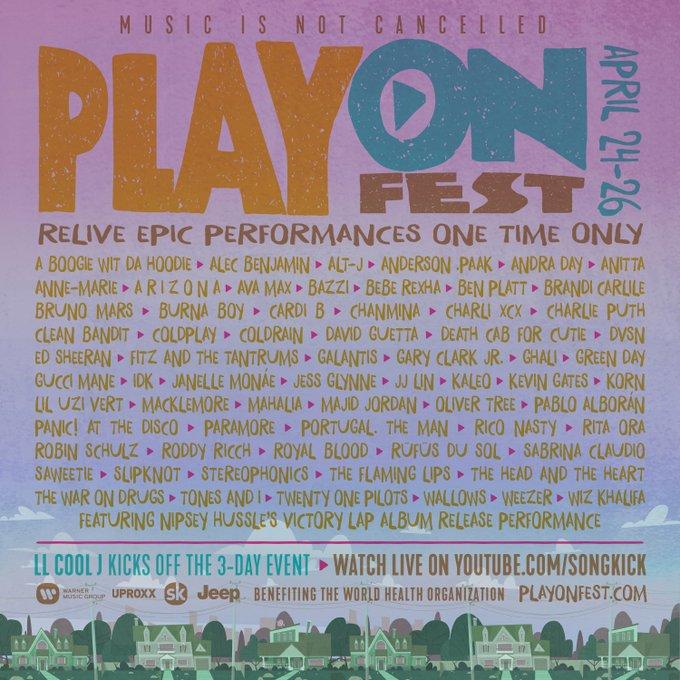 PlayOn Fest: cartel de conciertos legendarios online