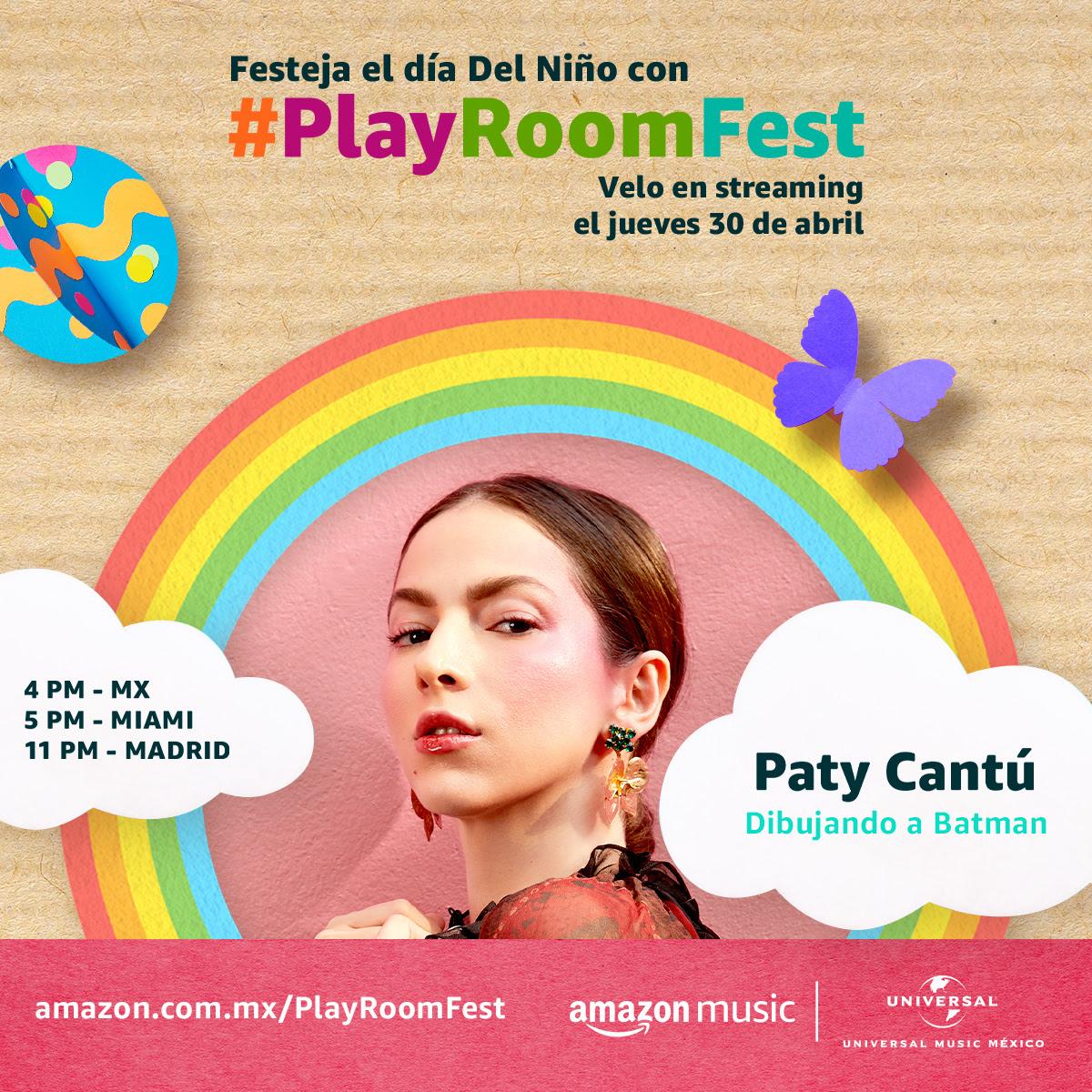 Paty Cantú formará parte del line-u de #PlayRoomFest.