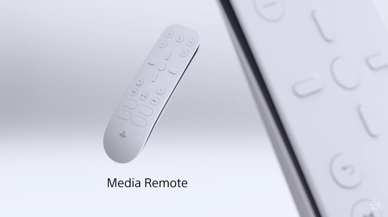 PlayStation 5 Control Remoto con micrófono para comandos de voz.