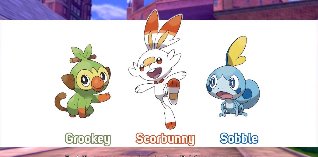Iniciales de Pokémon Escudo y Pokémon Espada