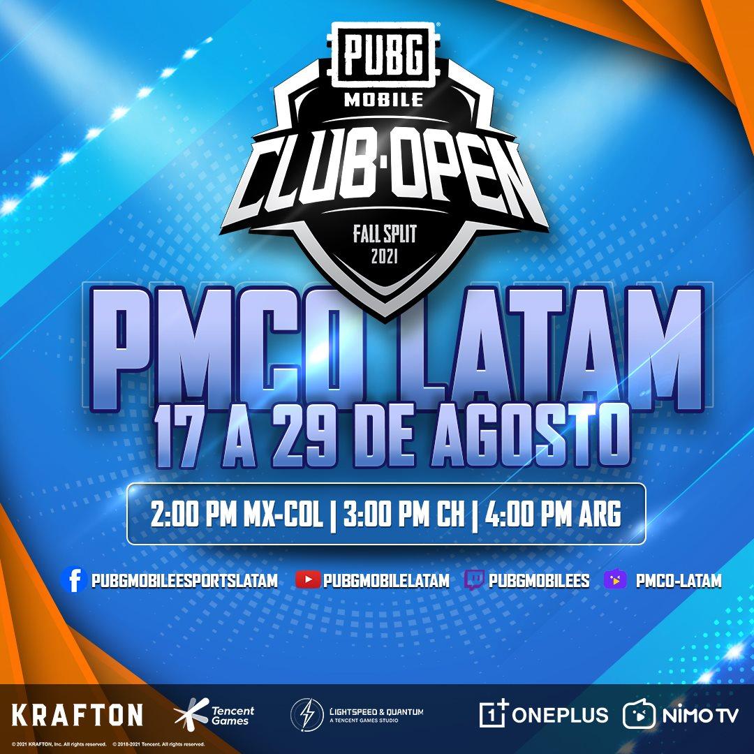 PUBG Mobile Club Open Fall Split 2021 LATAM   PandaAncha.mx
