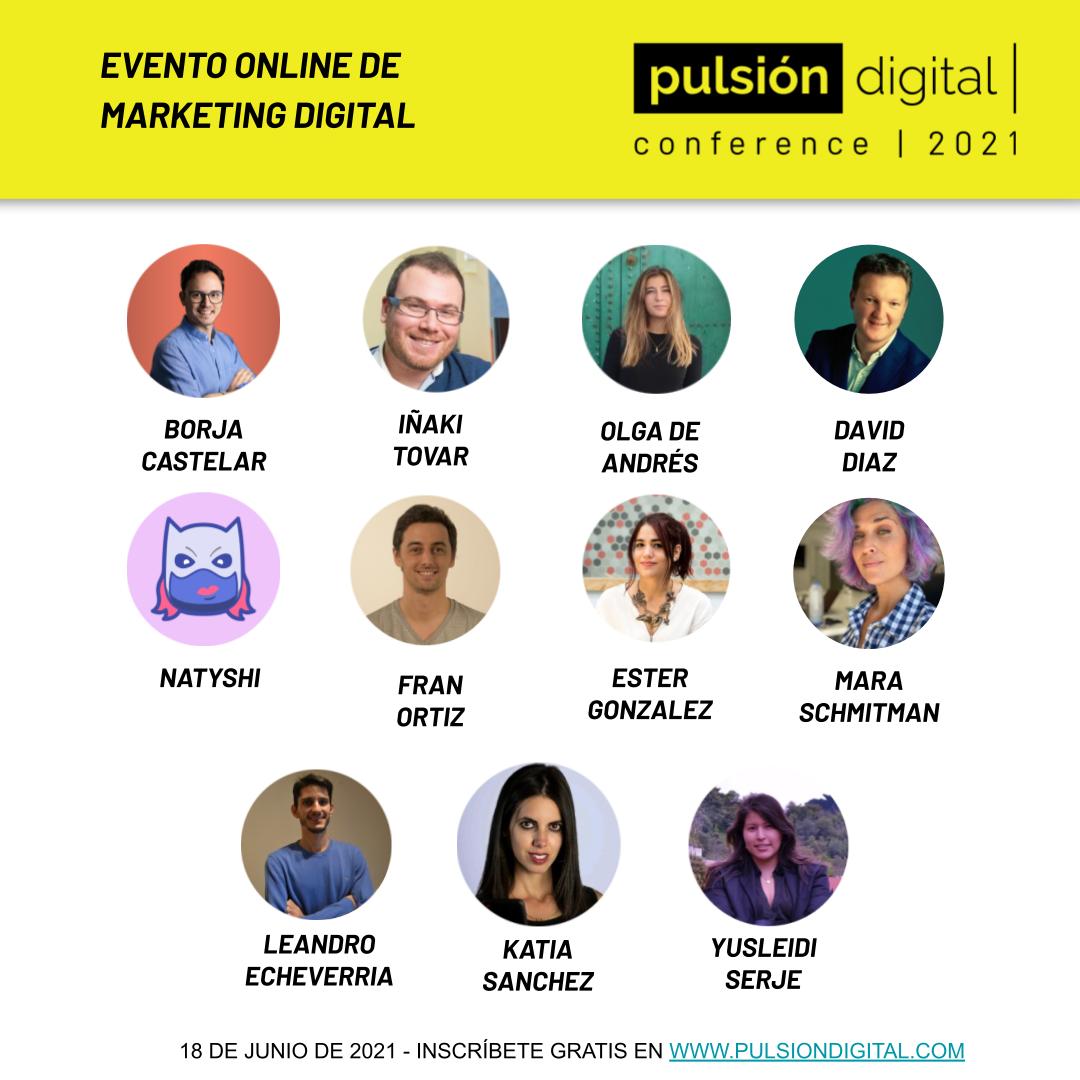 Ponentes de Pulsión Digital Conference 2021