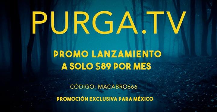 Promoción lanzamiento Purga en México