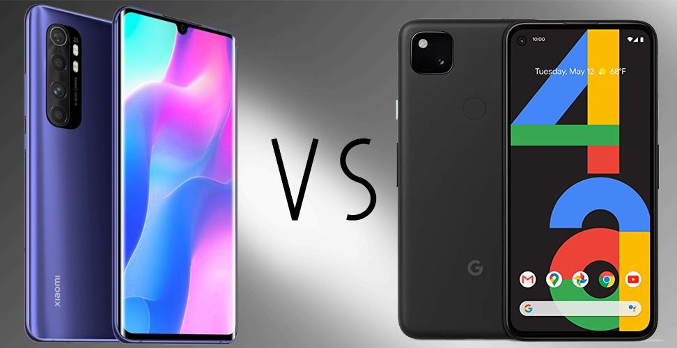 Mi Note 10 Lite vs Google Pixel 4a