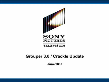 Sony compra Grouper y crea Crackle