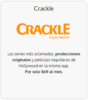 Contrata Crackle con Totalplay