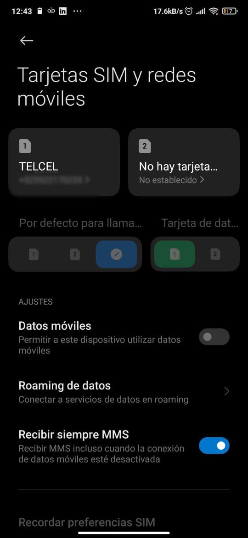 Cómo activar y desactivar Roaming de datos móviles Telcel.
