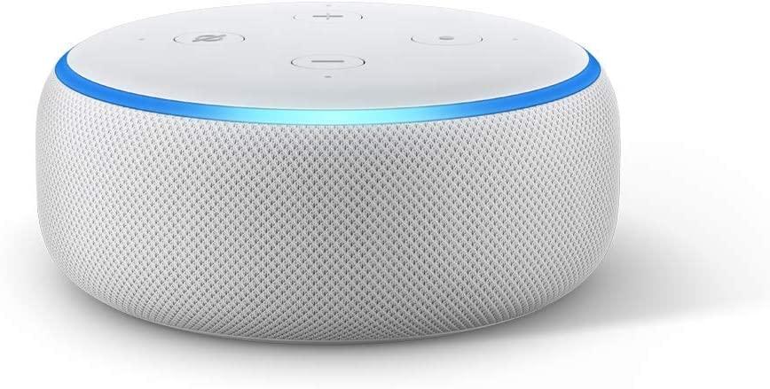 Bocina inteligente Echo Dot para conectarla a la computadora y el celular.